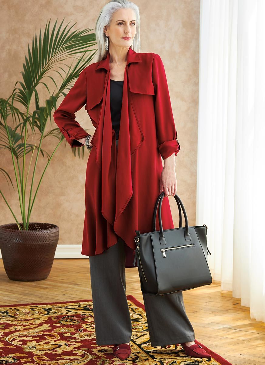 Patron de veste, grande ceinture, manteau, gilet et pantalon - Butterick 6717