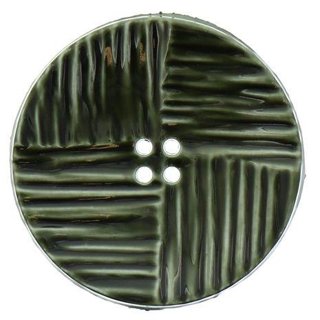 Bouton 4 trous - Plastique vert