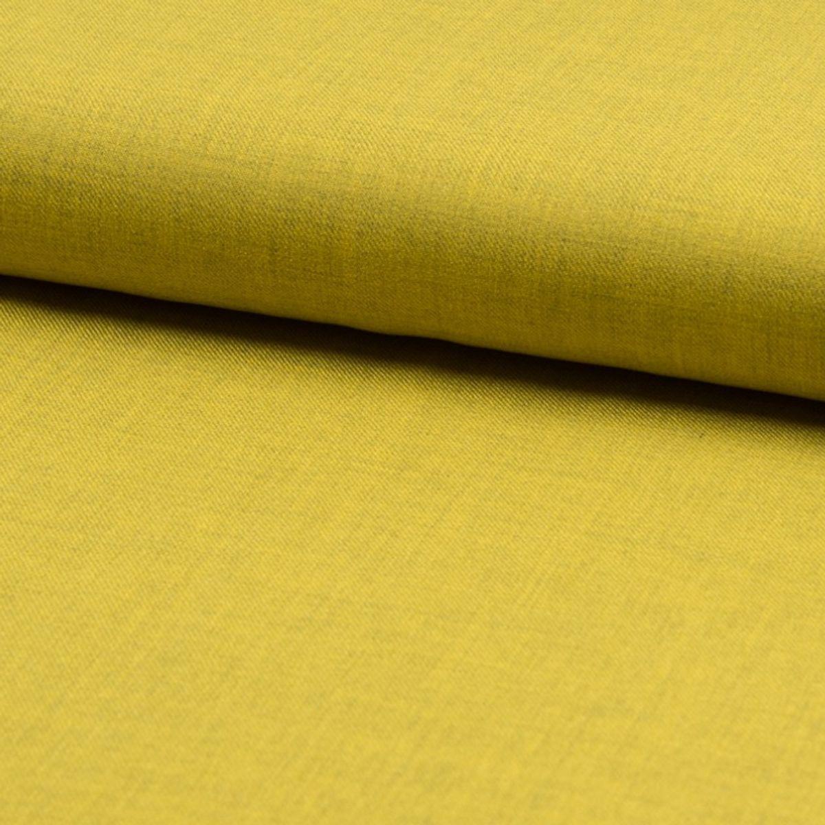 Tissu twill de viscose - Jaune vert