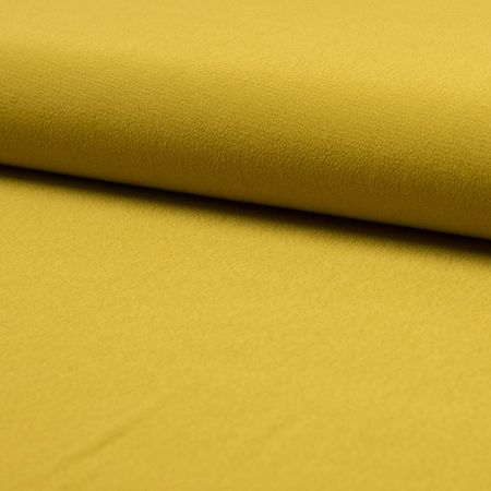 Tissu crêpe de viscose - Jaune ocre