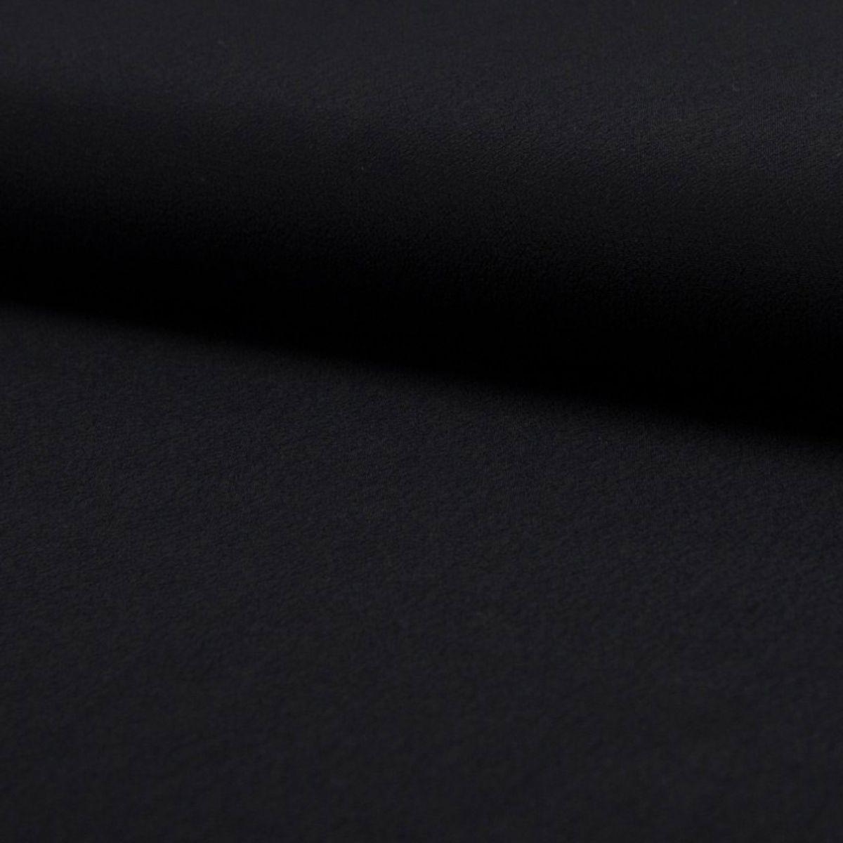 Tissu crêpe de viscose - Noir