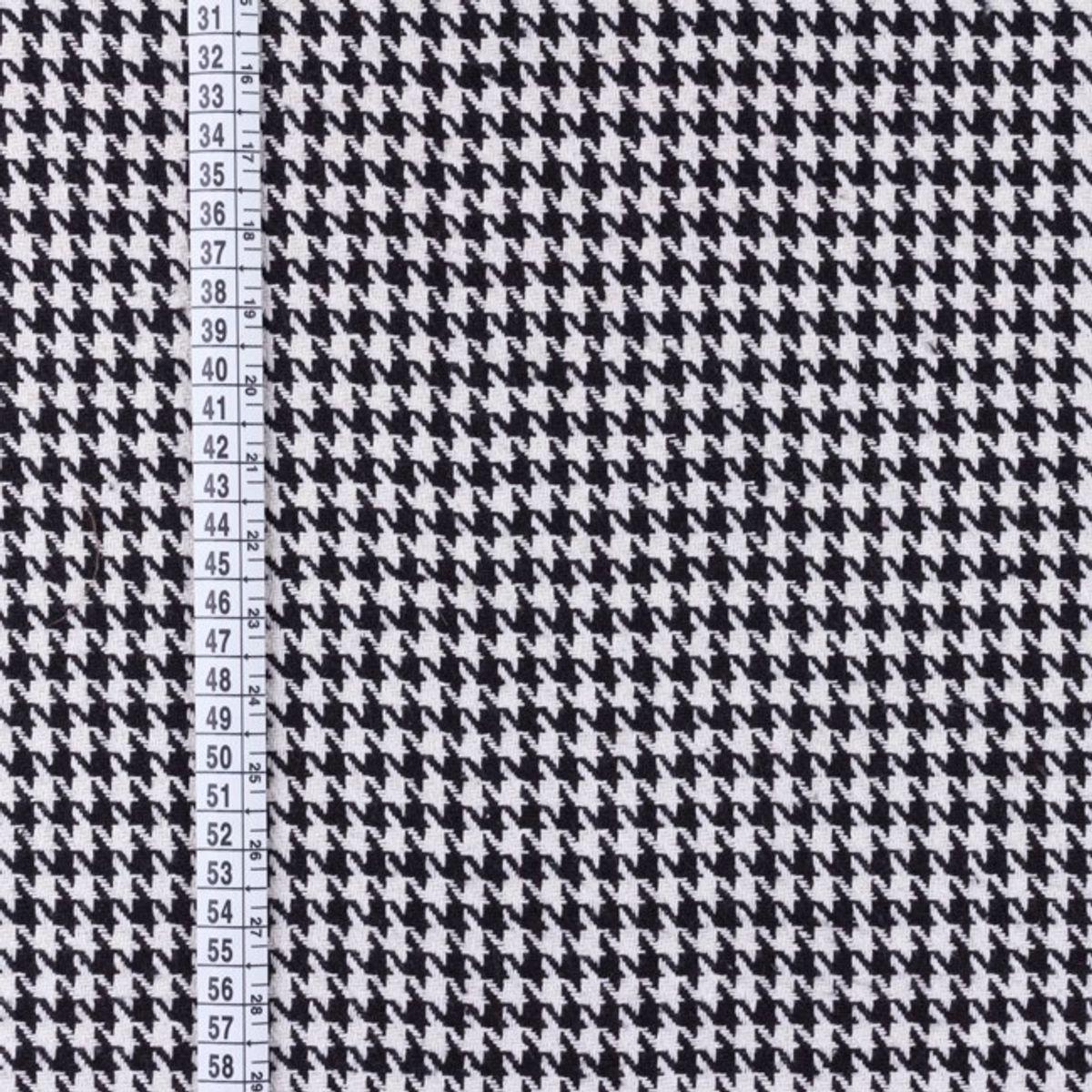 Tissu manteau pied de poule noir et blanc
