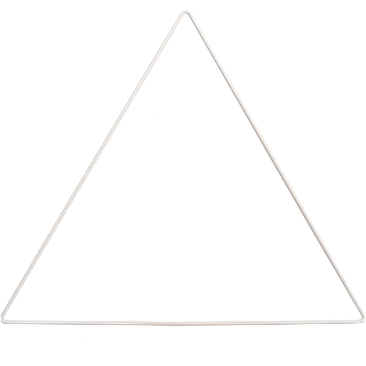 Triangle en métal blanc pour attrape-rêves