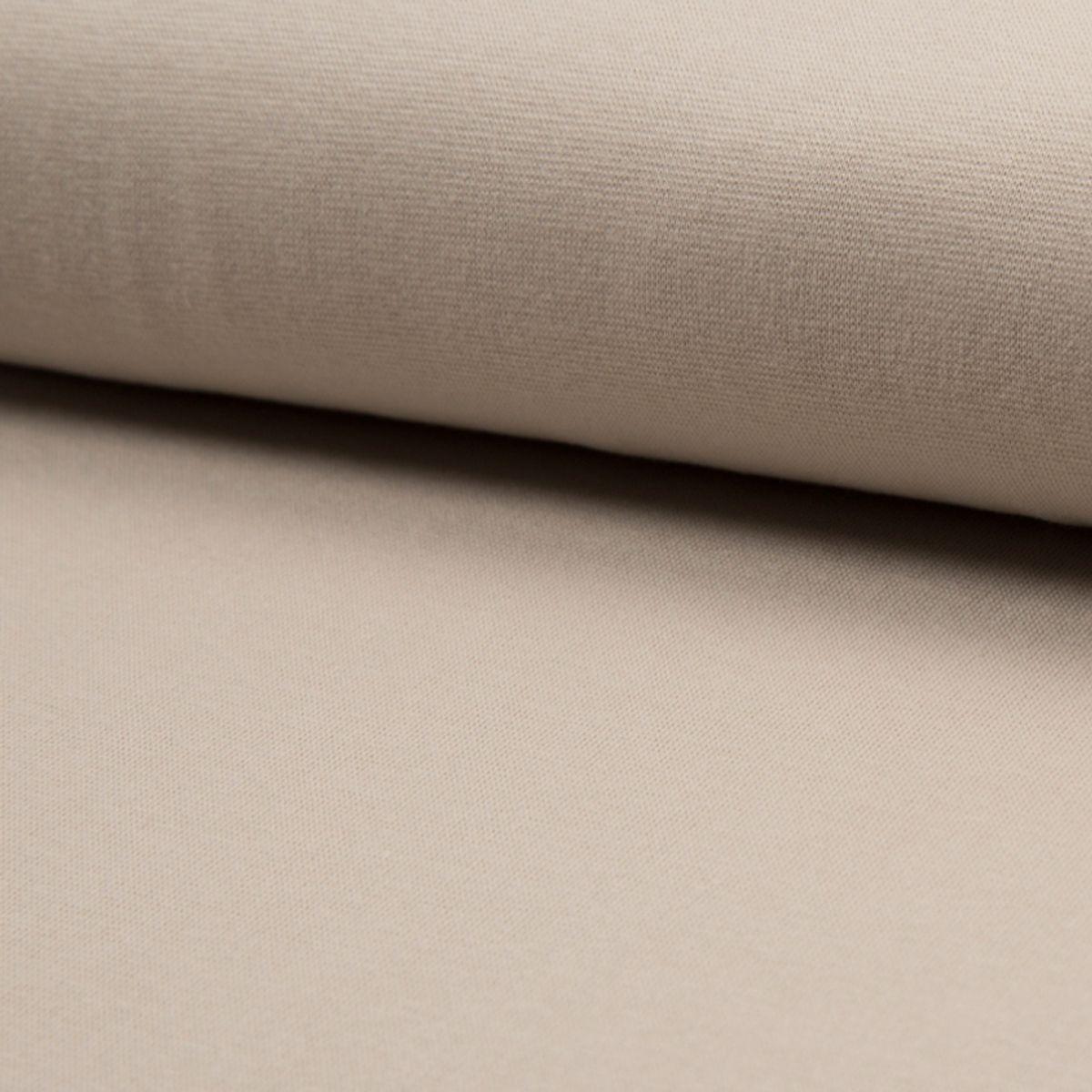 Tissu jersey bord côte BIO - Sable