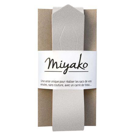 Anse en cuir Miyako - Argent irisé