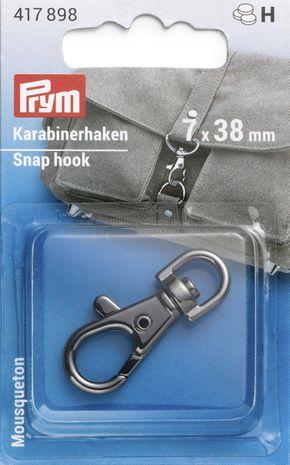 Mousqueton métal 7 x 38 mm - Bruni brillant