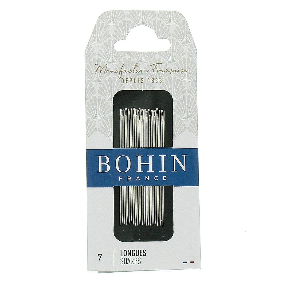 Aiguilles à coudre longues Bohin - N° 7
