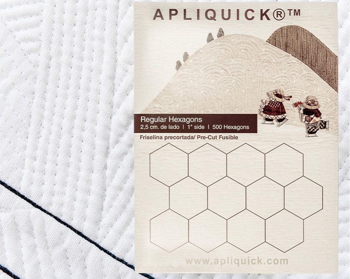 Gabarits hexagones Apliquick - 2,5 cm