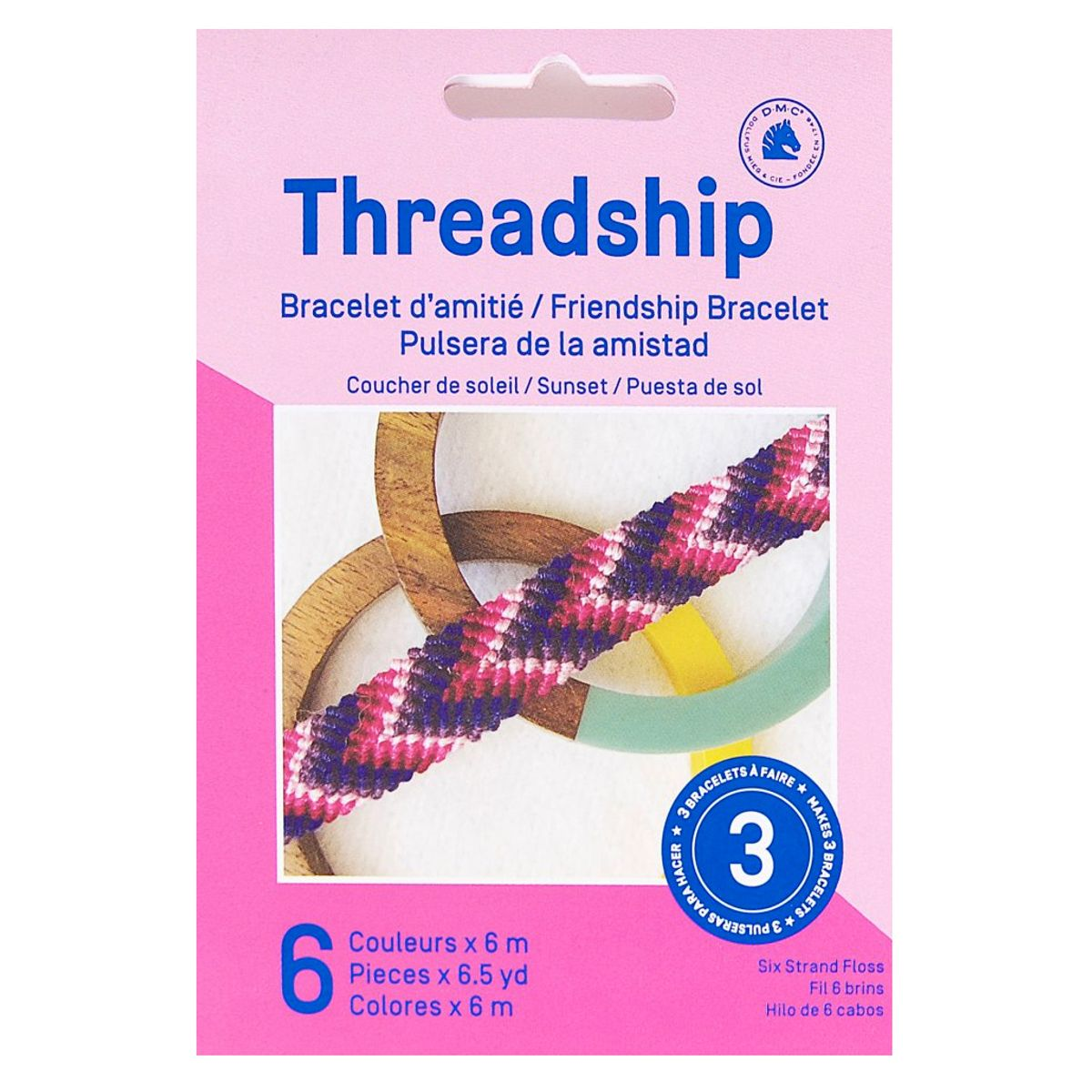 Kit bracelet brésilien - Coucher de soleil