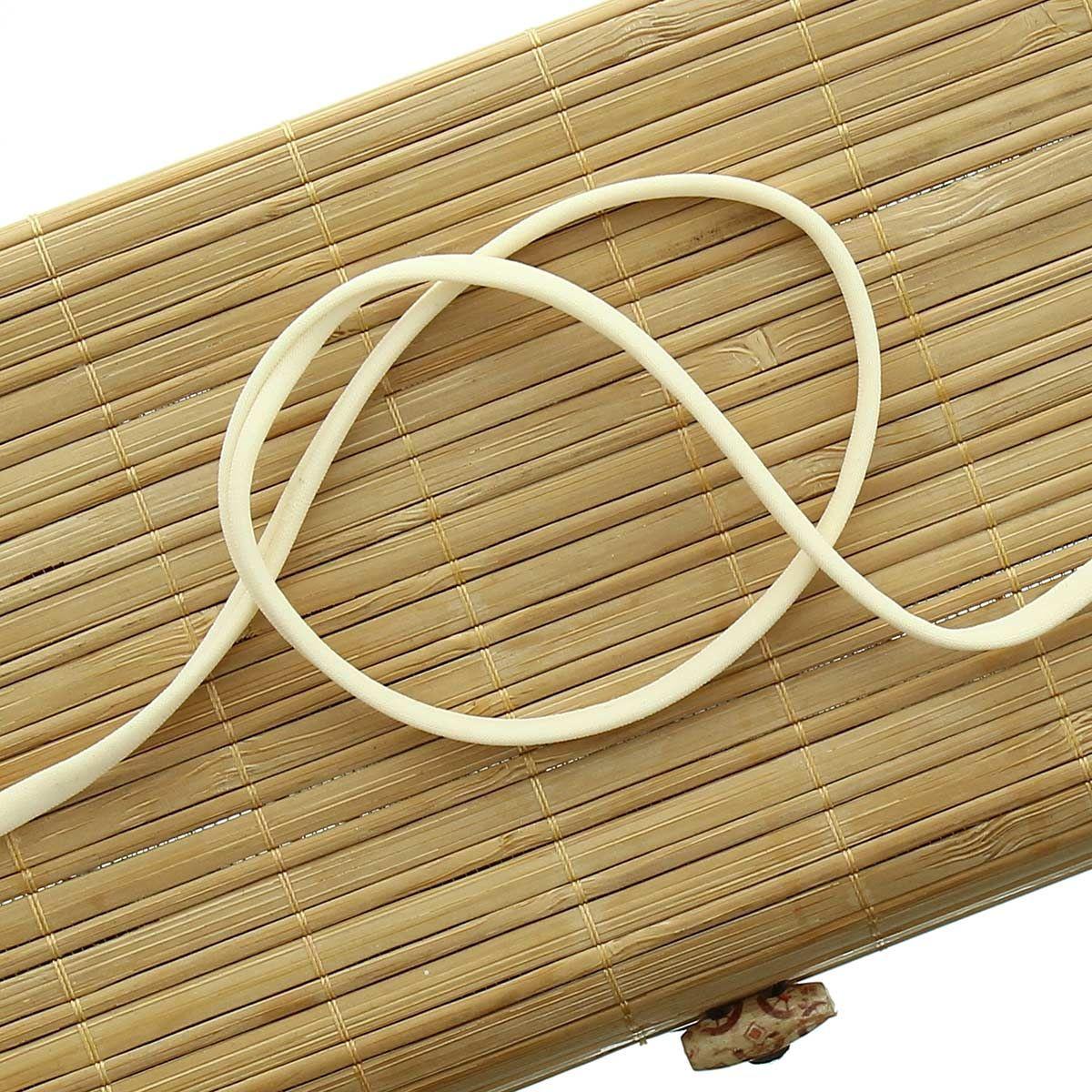 Cordon spaghetti lycra 5 mm - Ecru