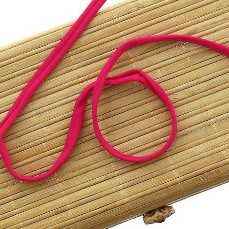 Cordon spaghetti lycra 5 mm - Fuchsia