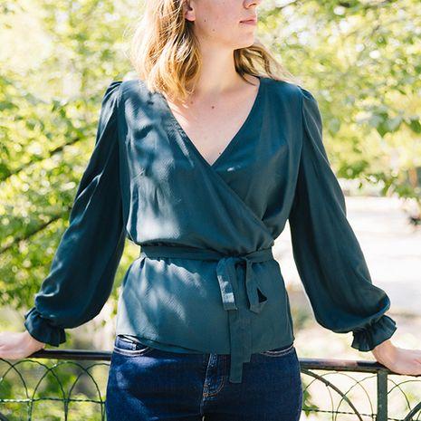 Patron de blouse cache-coeur Alma - Cozy Little World