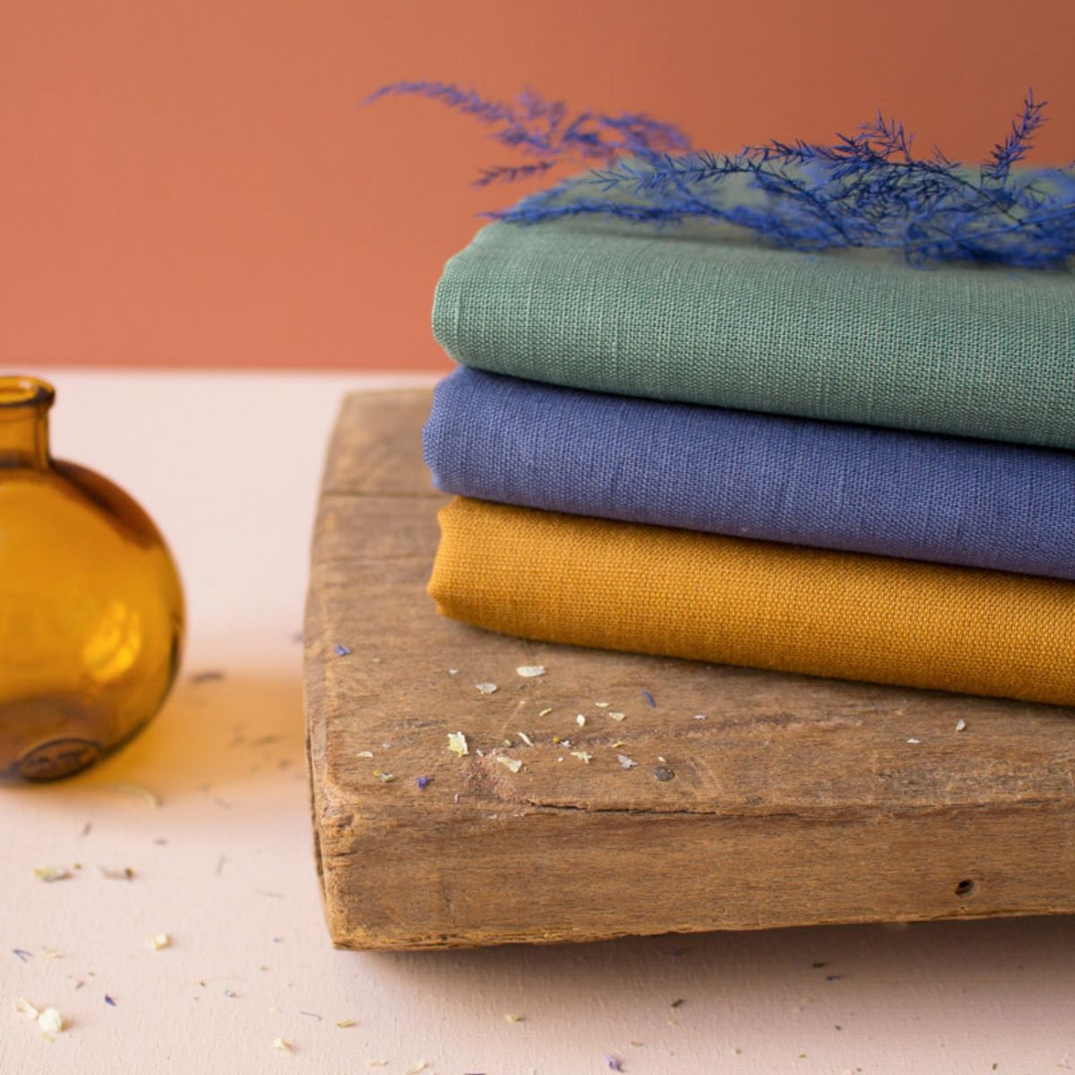Tissu linen Ochre - Atelier Brunette