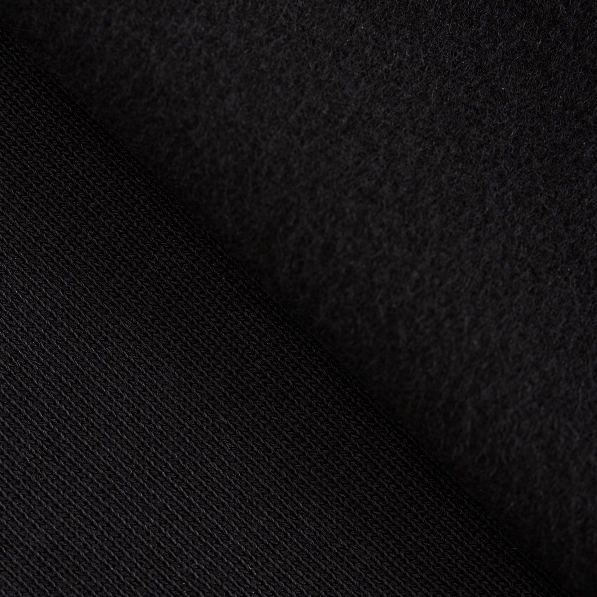 Tissu sweat gratté BIO - Noir