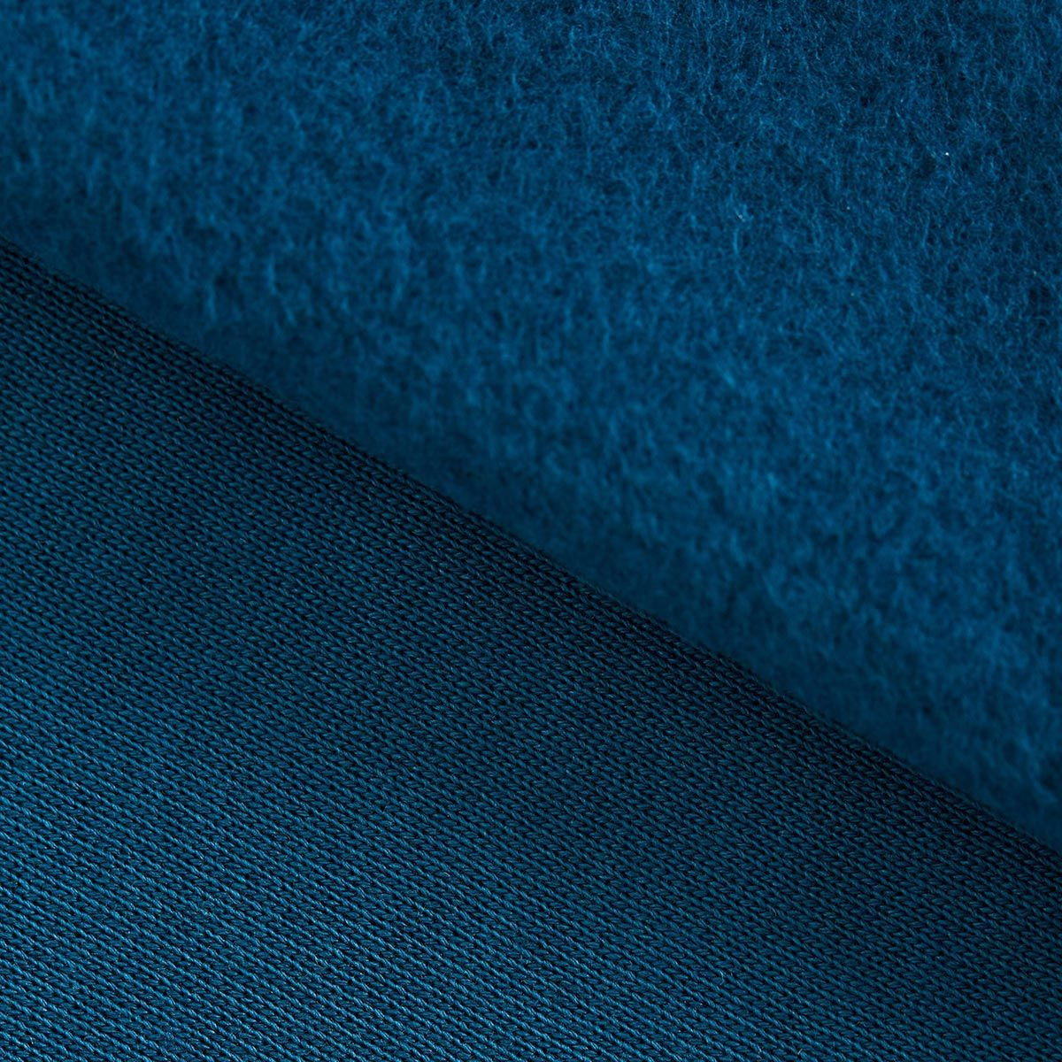Tissu sweat gratté BIO - Océan