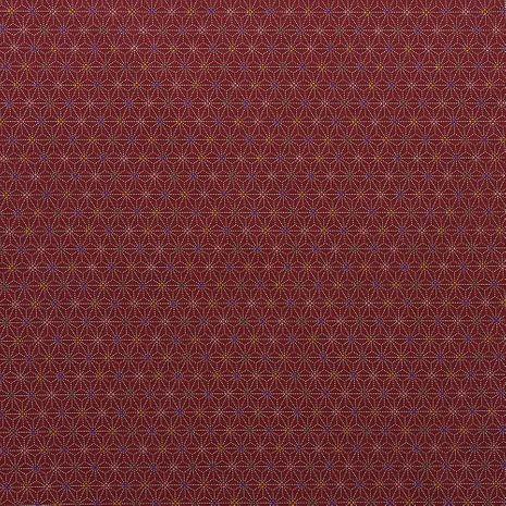 Tissu coton sashiko Sevenberry - Petites étoiles fond rouge