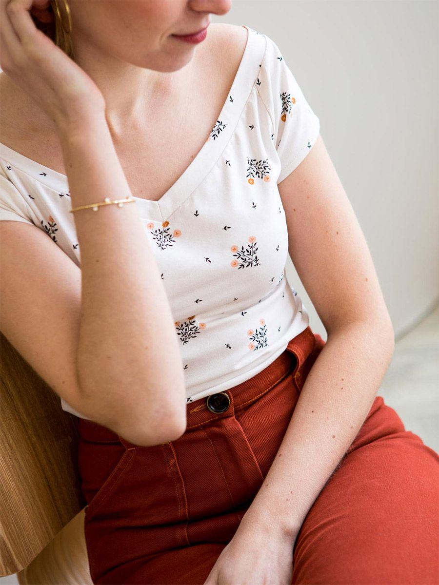 Tissu jersey de coton Harmonie - Lise Tailor