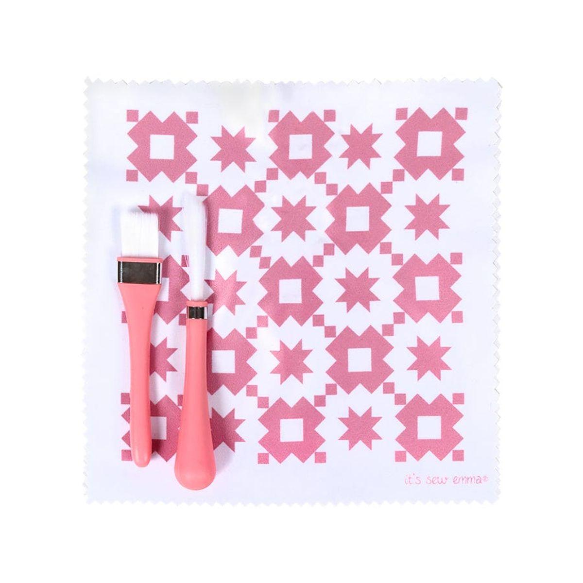 Set de nettoyage pour machines à coudre - Rose