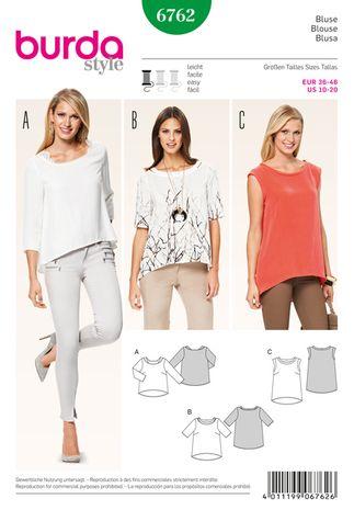 Patron de blouse - Burda 6762