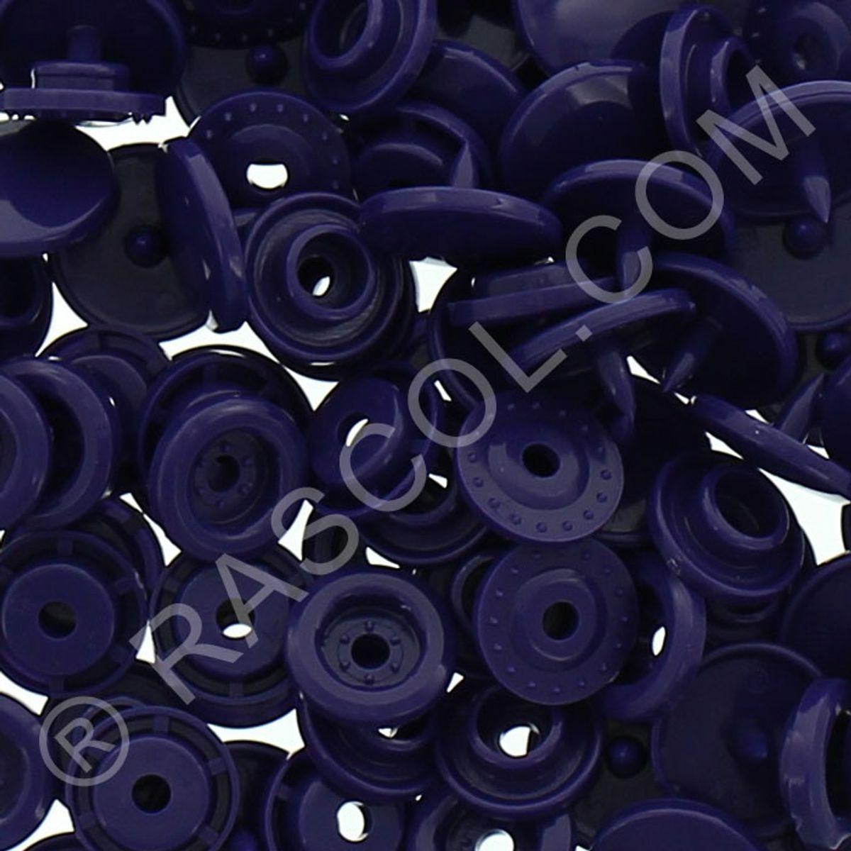 Sachet de 25 pressions résine KAM ronds - Violet foncé