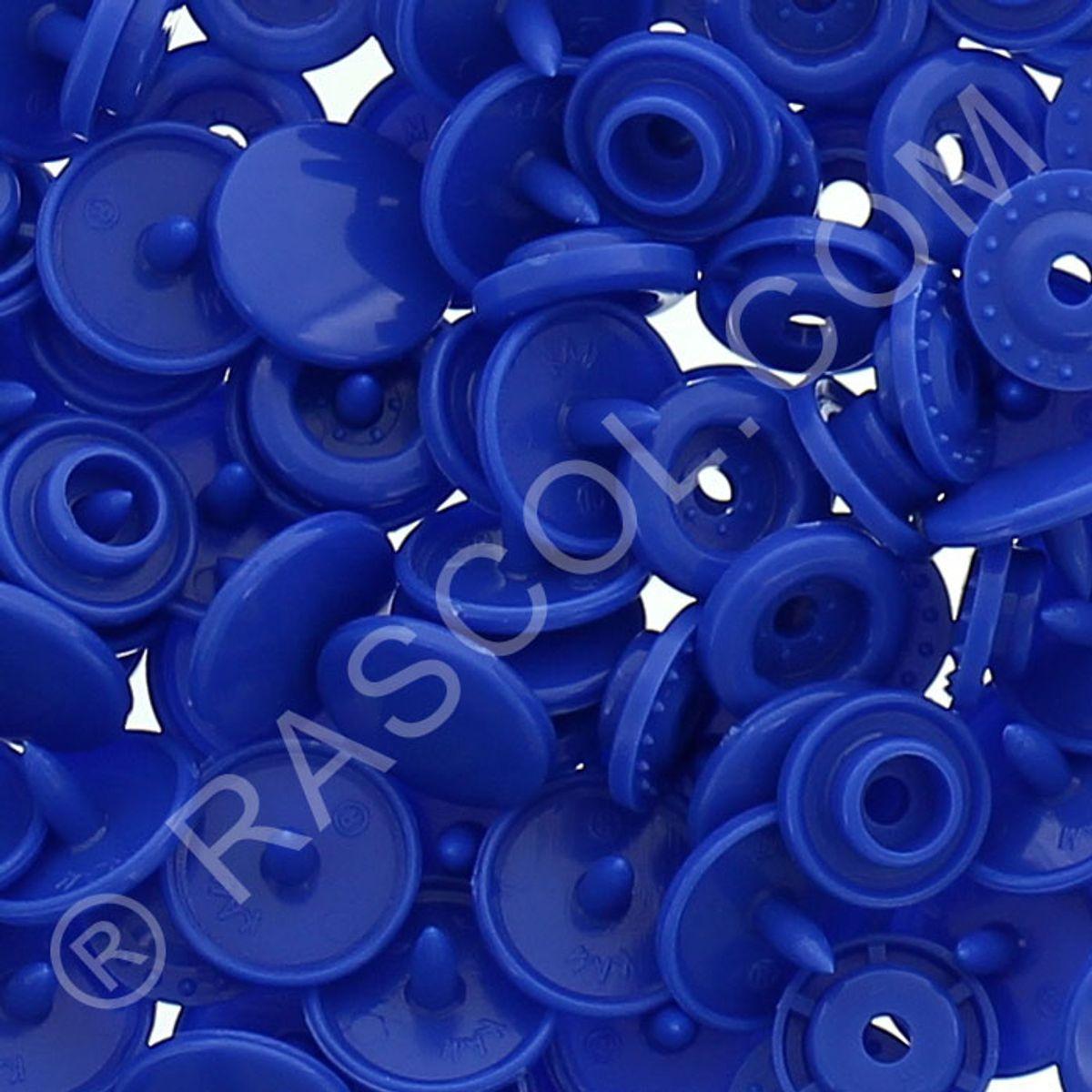 Sachet de 25 pressions résine KAM ronds - Bleu royal