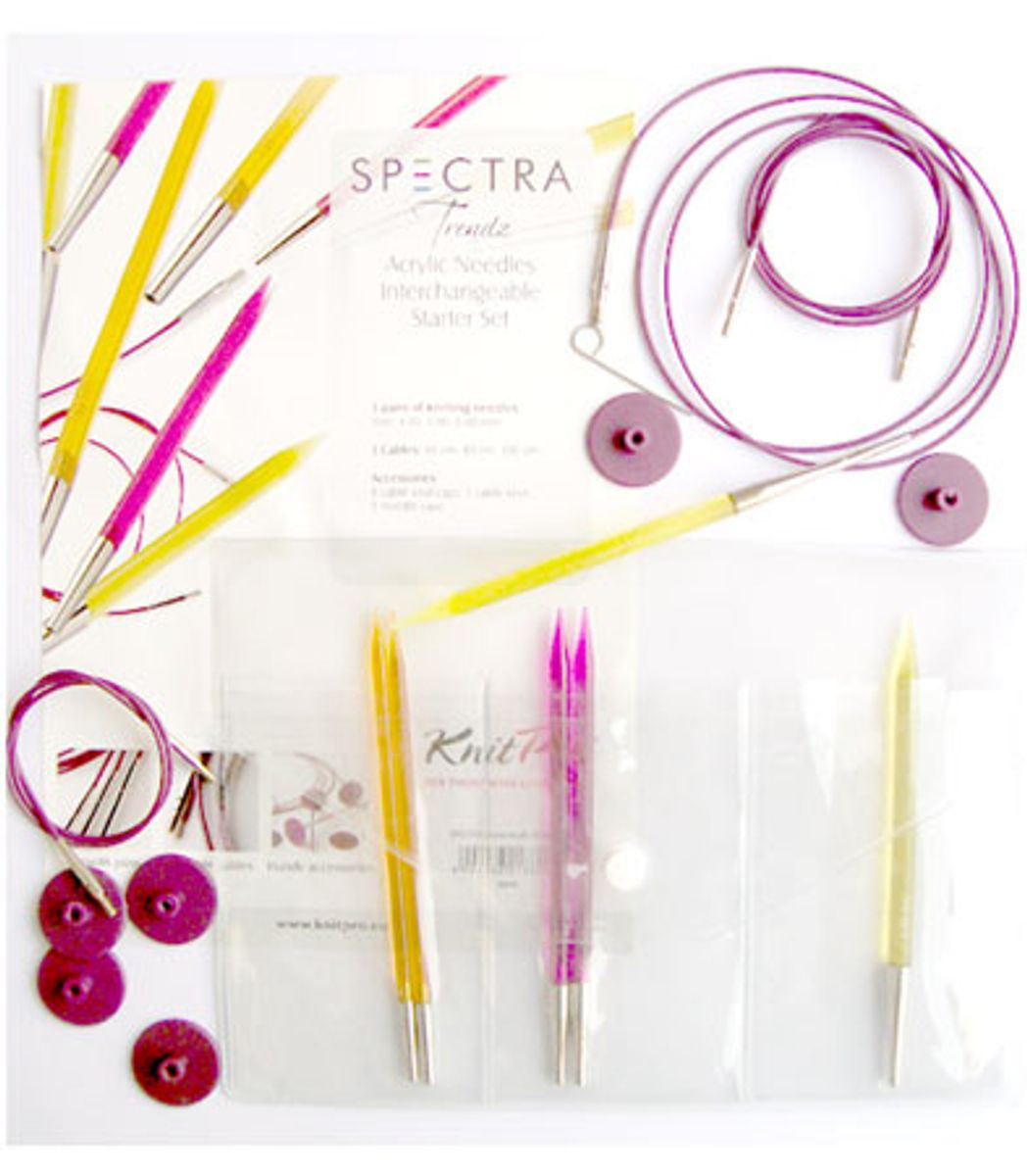 Trousse aiguilles à tricoter circulaires KnitPro Starter Spectra