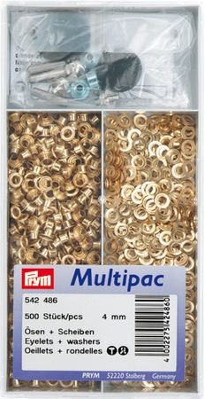Multipac de 500 oeillets 4mm - Or