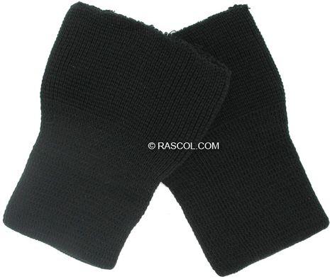 Lot de 2 poignets tricotés - Noir