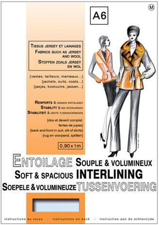 Entoilage tissé volumineux thermocollant - Tissus jersey & Lainages
