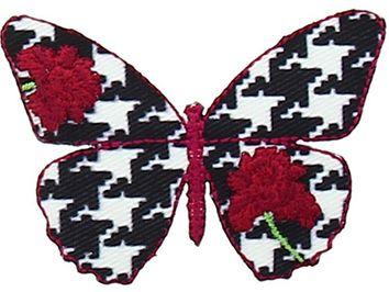Motif papillon mode pied de poule
