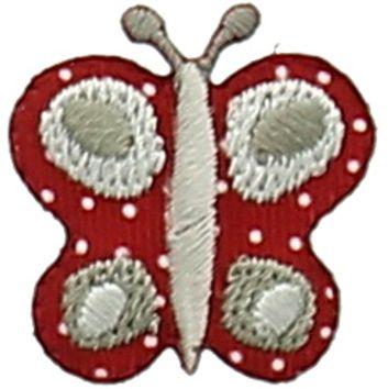 Motif papillon bordeaux