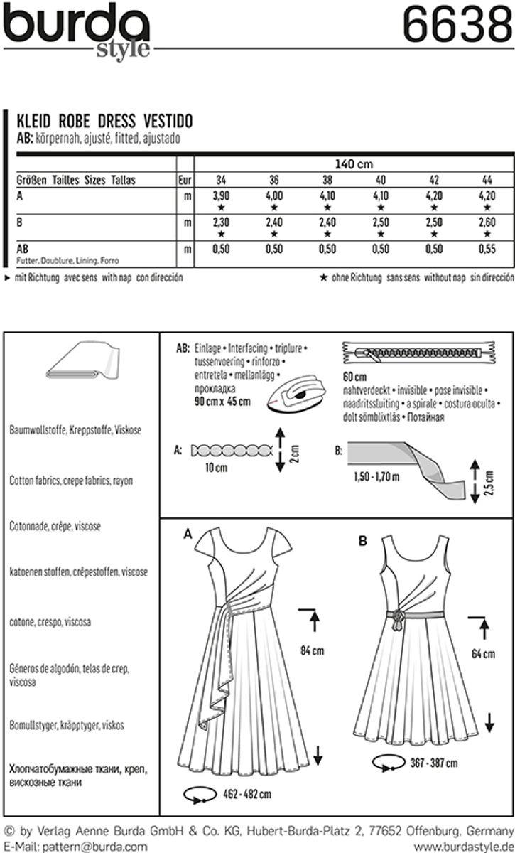 Patron de robe - Burda 6638