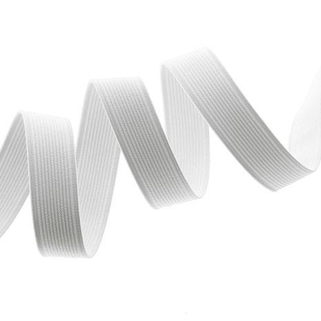 Élastique côtelé blanc