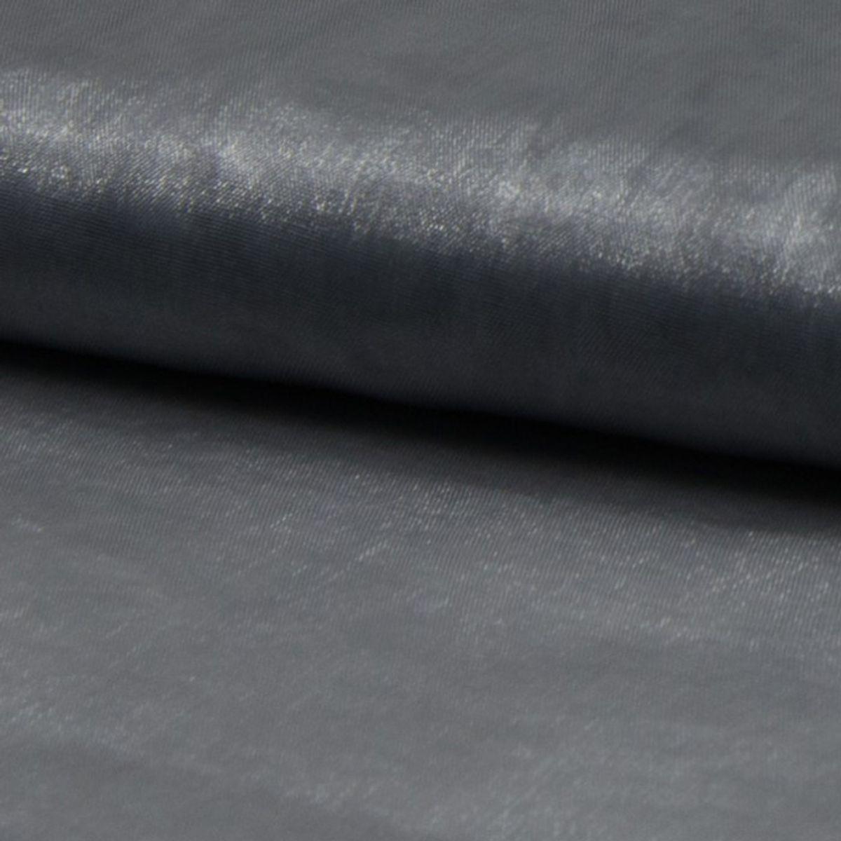 Tissu organza - Gris argent