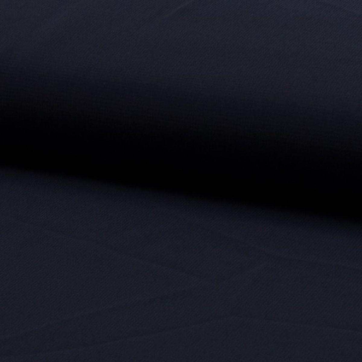 Tissu mousseline - Bleu marine