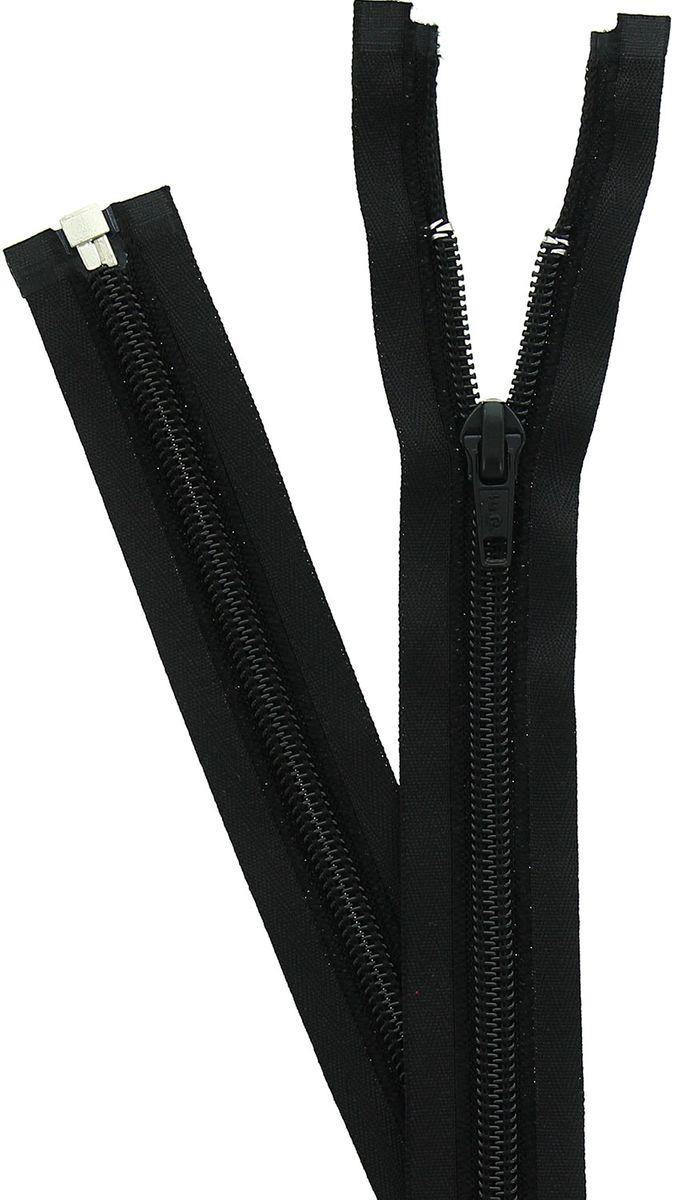 Fermeture éclair tricot séparable - Noir
