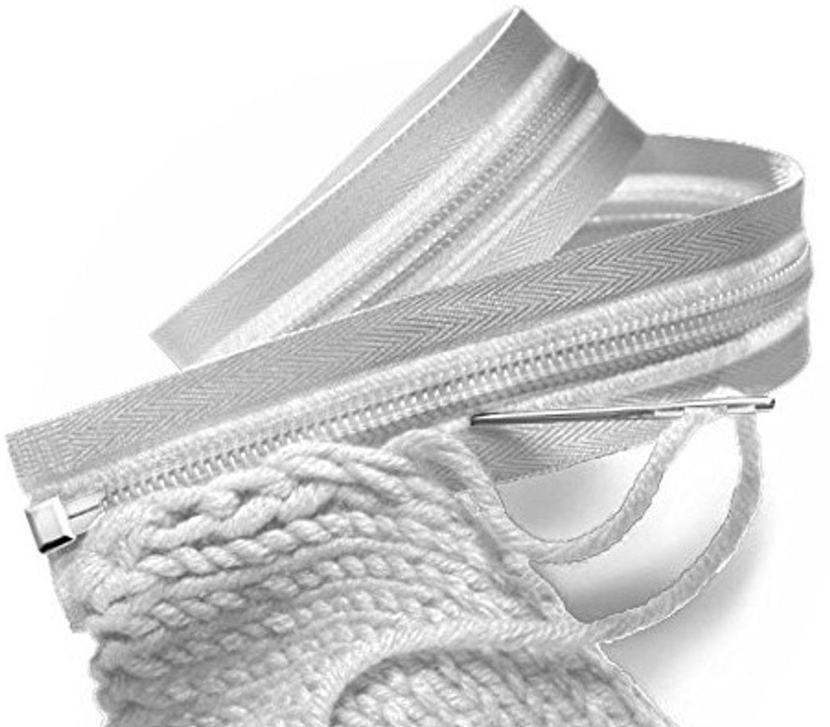 Fermeture éclair tricot séparable - Blanc