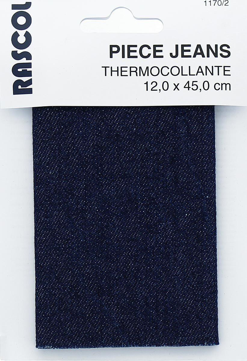 Percale thermocollante pour réparation - Jeans bleu marine