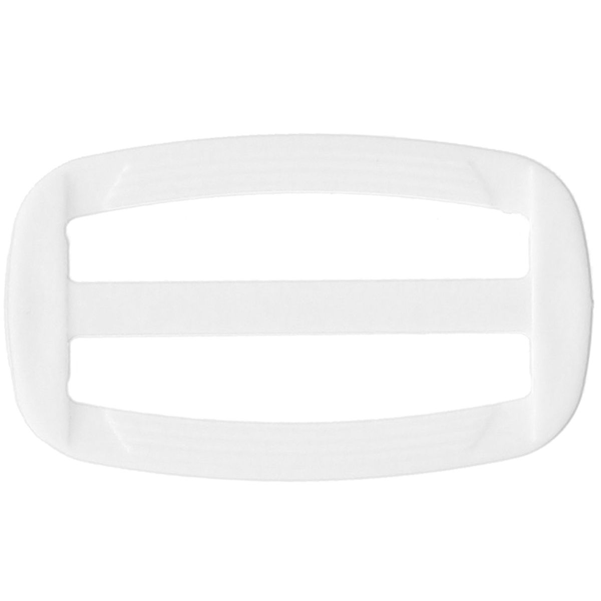 Boucle coulissante plastique blanc 40 mm