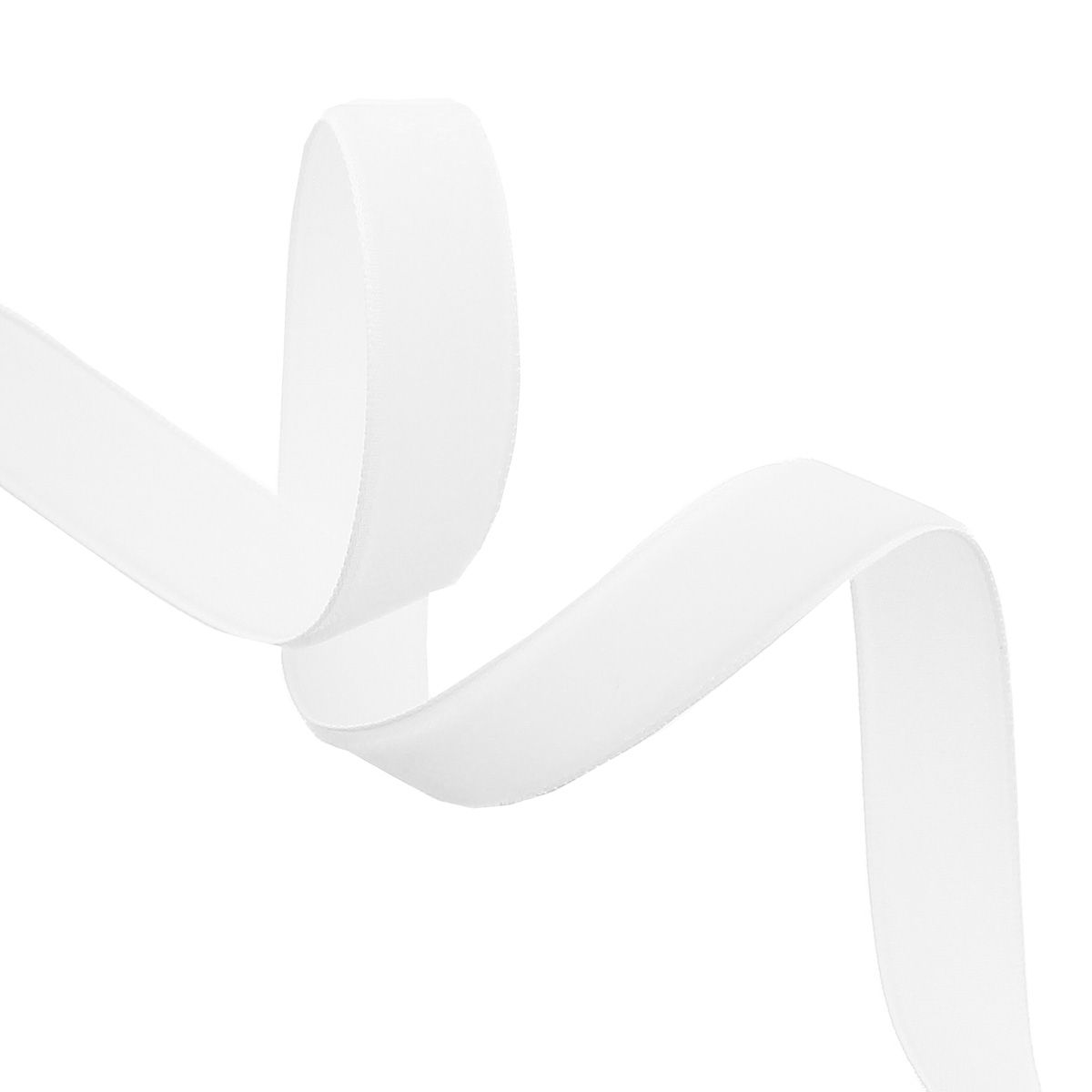 Ruban velours - Blanc