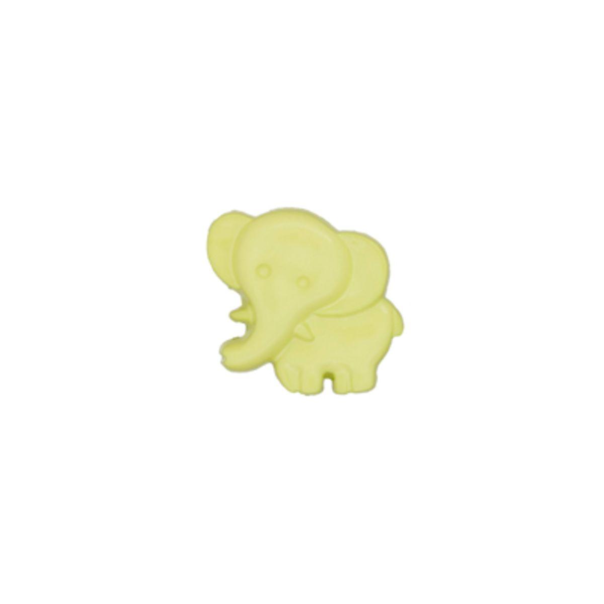 Bouton éléphant vert pomme