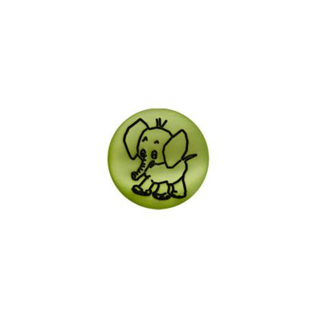 Bouton éléphant nacre vert pomme
