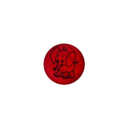 Bouton éléphant nacre rouge
