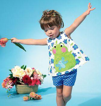 Tissu popeline - Fleurs bleues