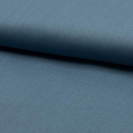 Tissu coton uni - Bleu jeans