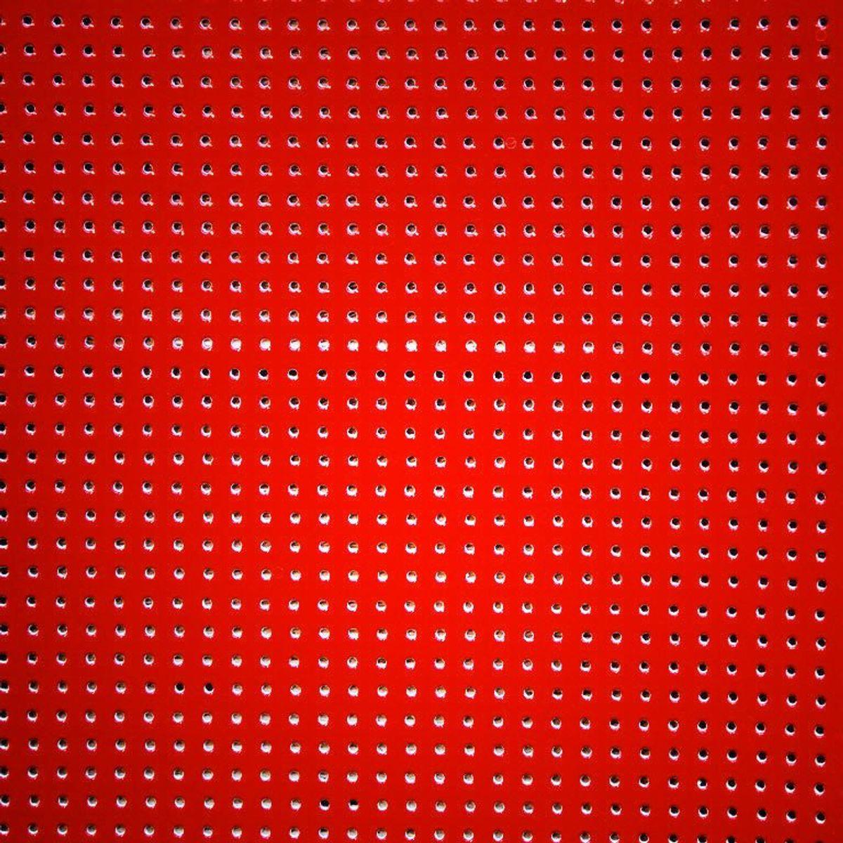 Vinyle laqué perforé - Rouge