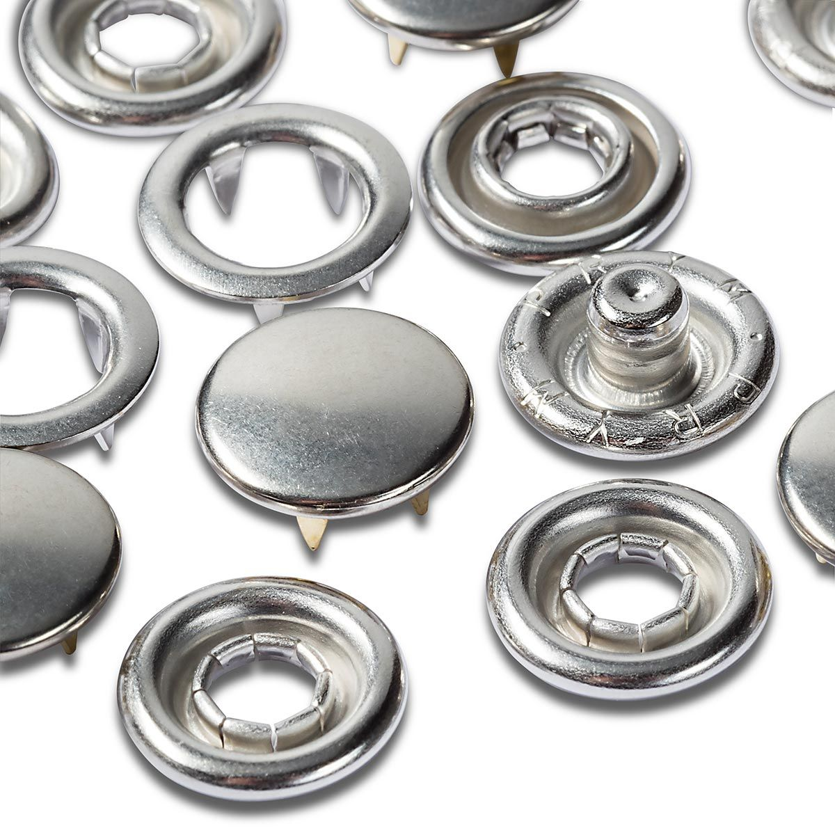 Recharge boutons pression jersey 10 mm Nickel