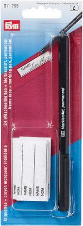 24 étiquettes thermocollantes + crayon marqueur indélébile