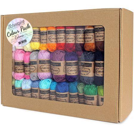 Coffret de 109 mini pelotes Scheejes Catona Colour Pack