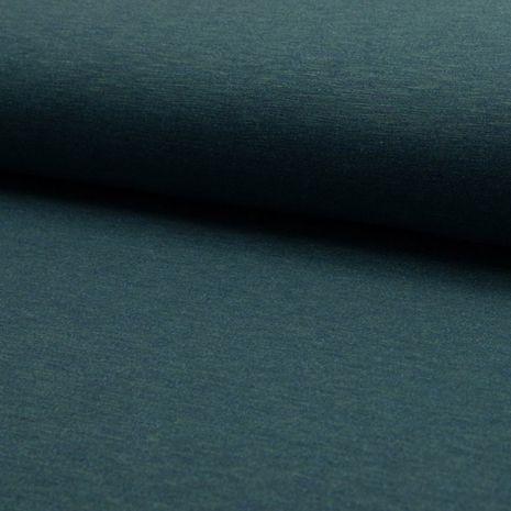 Tissu jogging mélangé - Vert émeraude